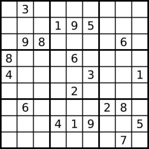 Les règles du sudoku